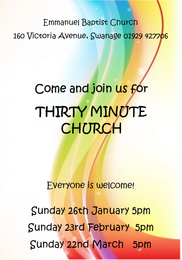 Invitation to Thirty Minute Ch